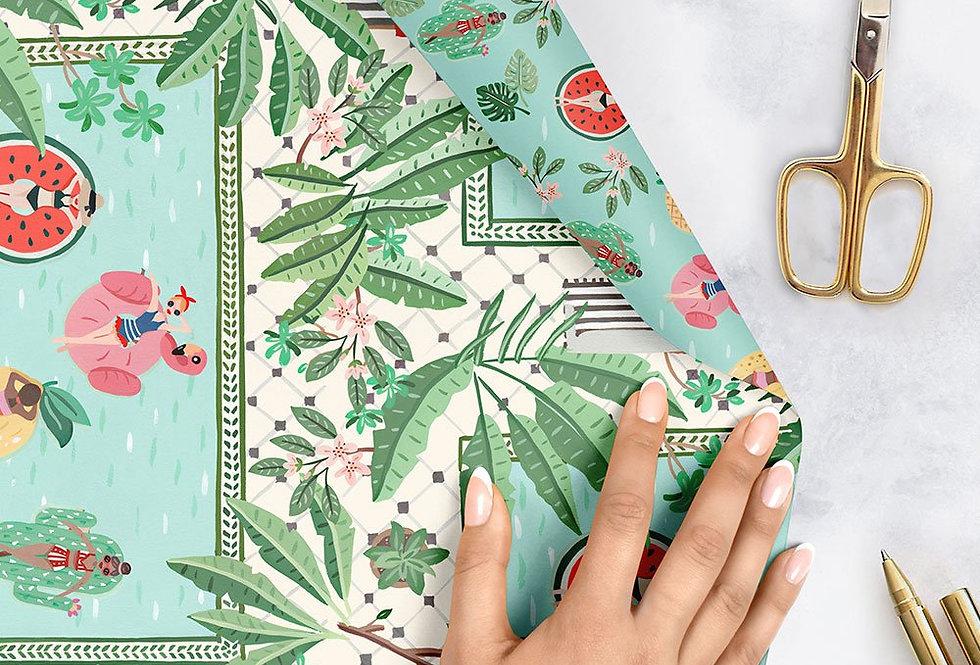 Bespoke Letterpress Giftwrap - Miami