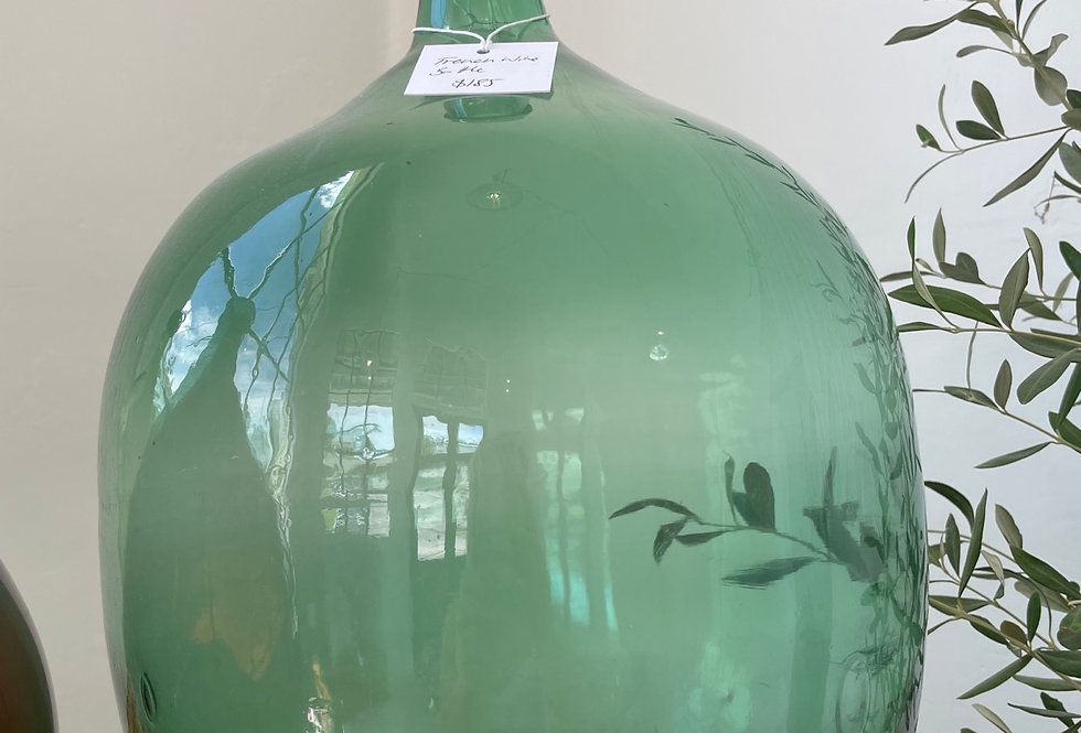 French wine bottle - teal