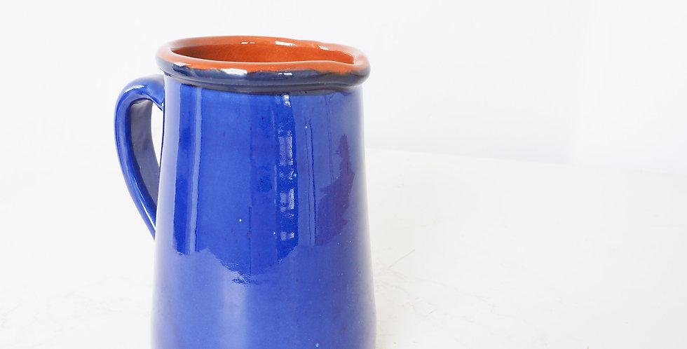 Spanish Blue Glazed Jug