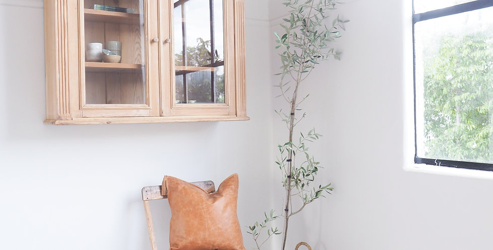 French Pine Wall-Hung Vitrine