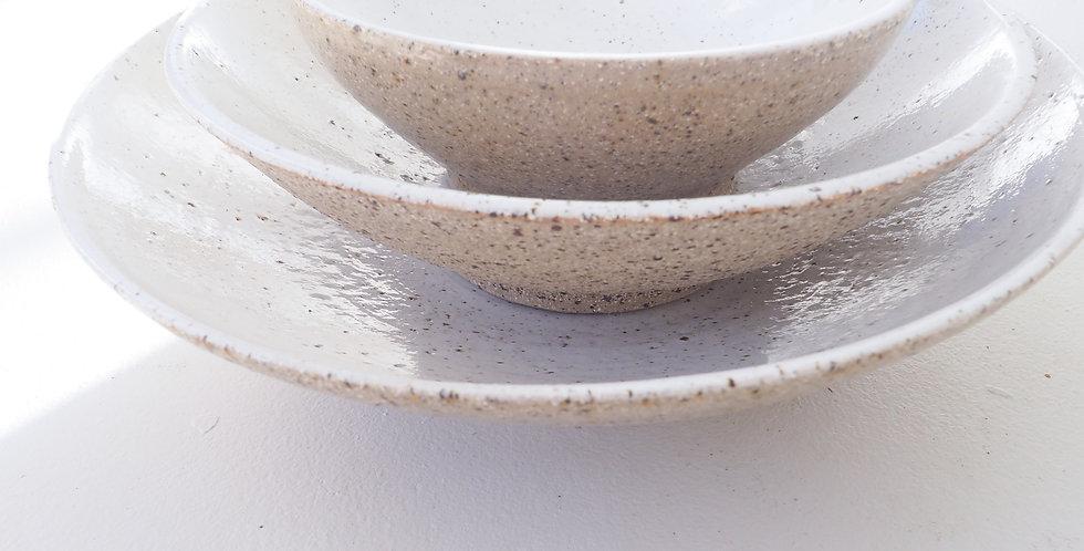 Memento  Mori Handthrown Bowl - White