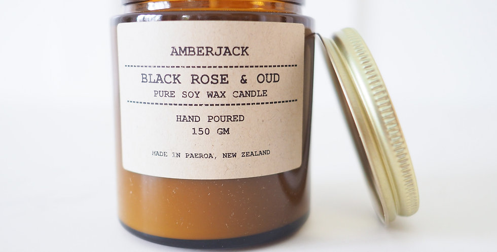 Amberjack Candle - Tobacco Flower & Oak