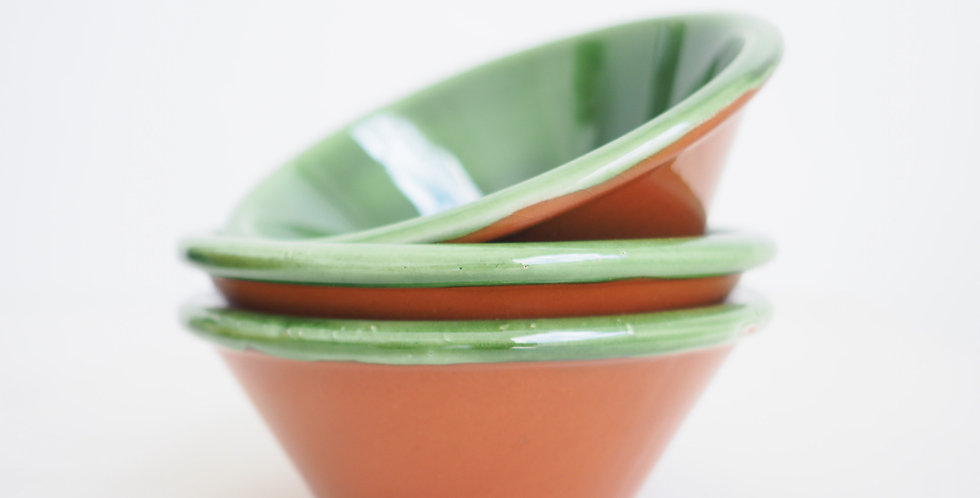 Spanish Glazed Terracotta Provencal Bowl - Green