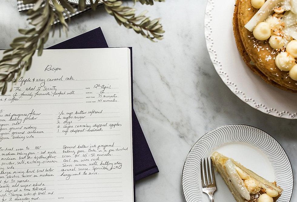 Bespoke Letterpress Heirloom Recipe Journal