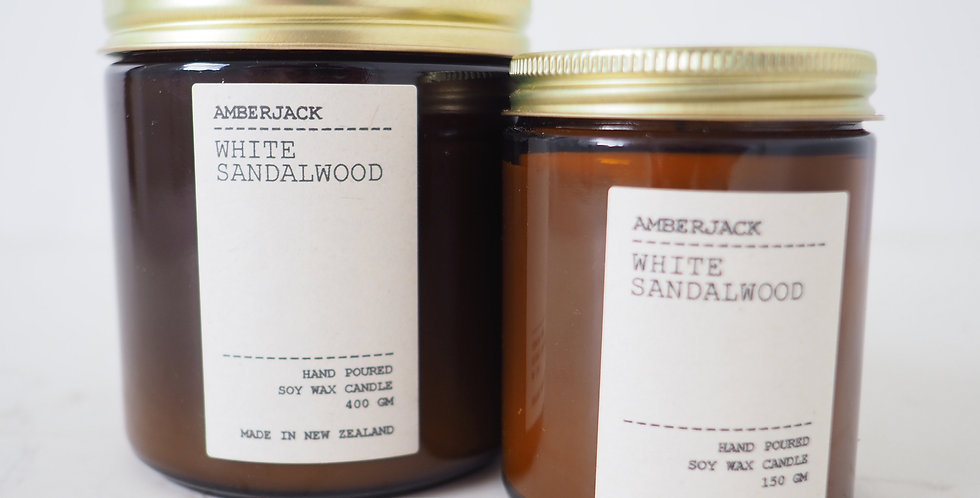Amberjack Candle - White Sandalwood