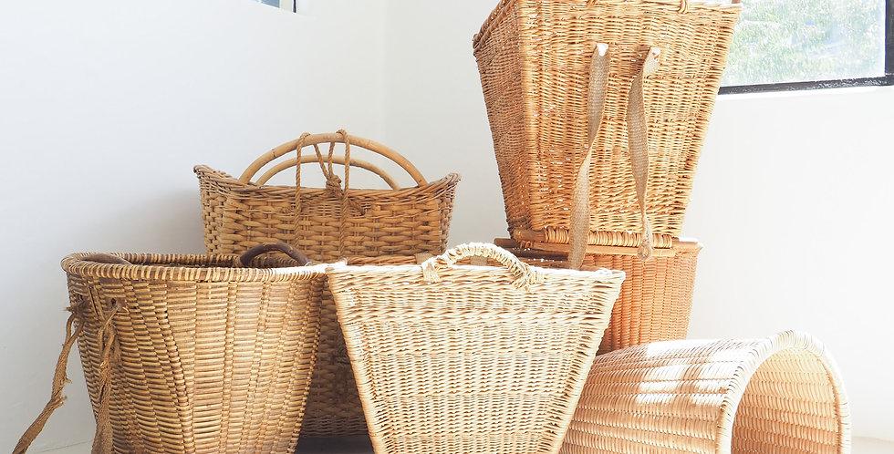 Handwoven Harvest Baskets