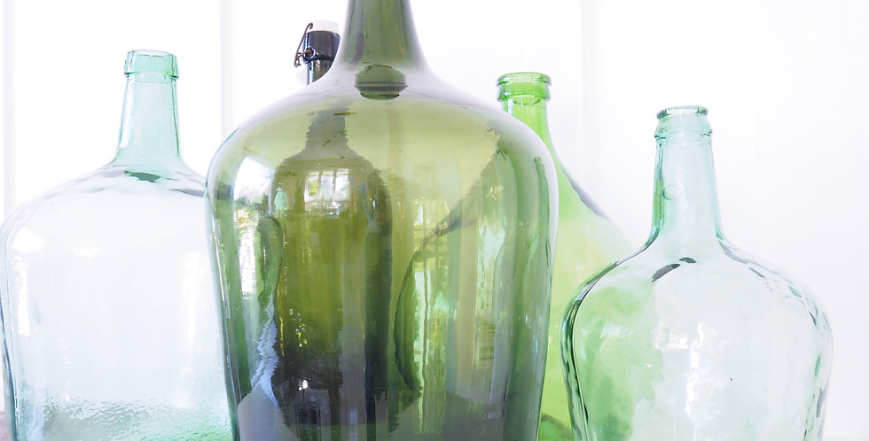 French Glass Wine Bottles