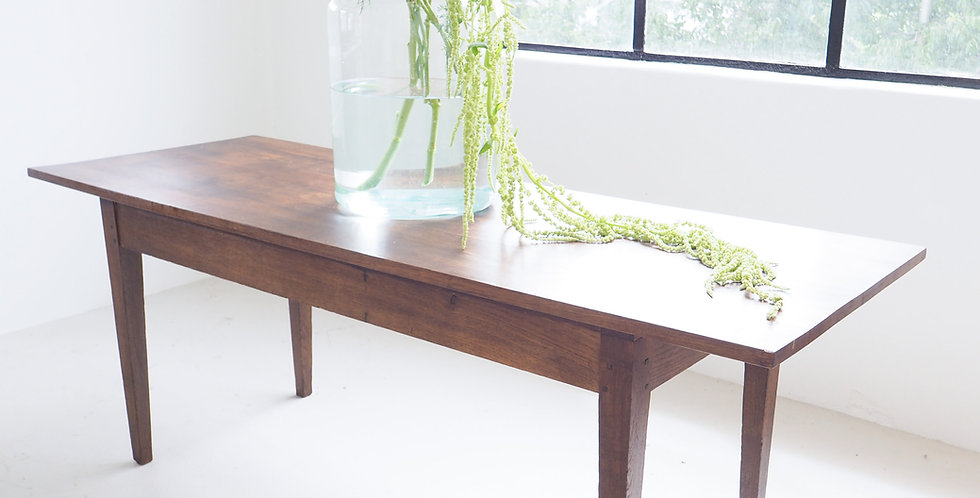 Simple French Oak Dining Table