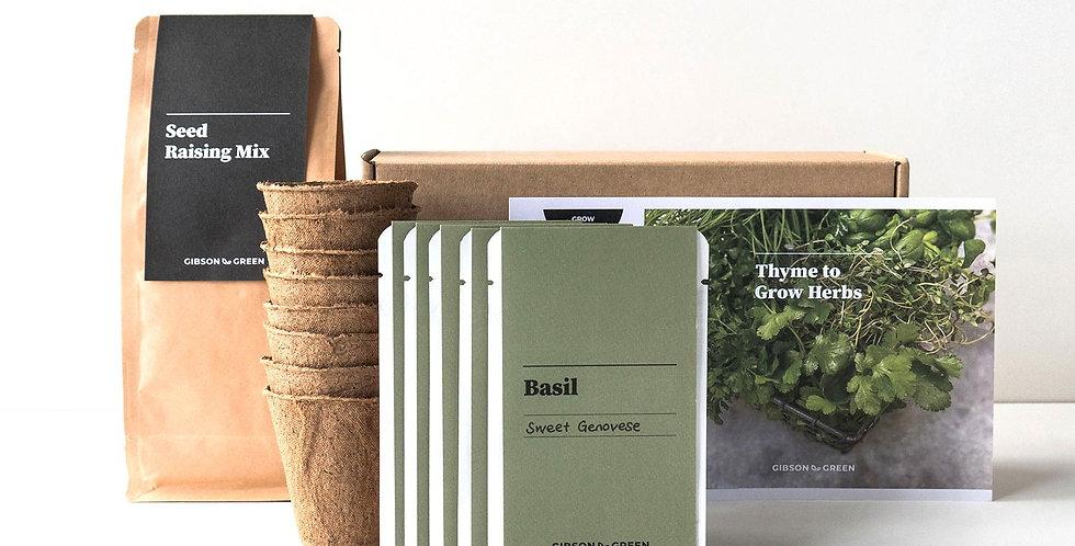 Gibson & Green Grow Kit - Thyme to Grow Herbs