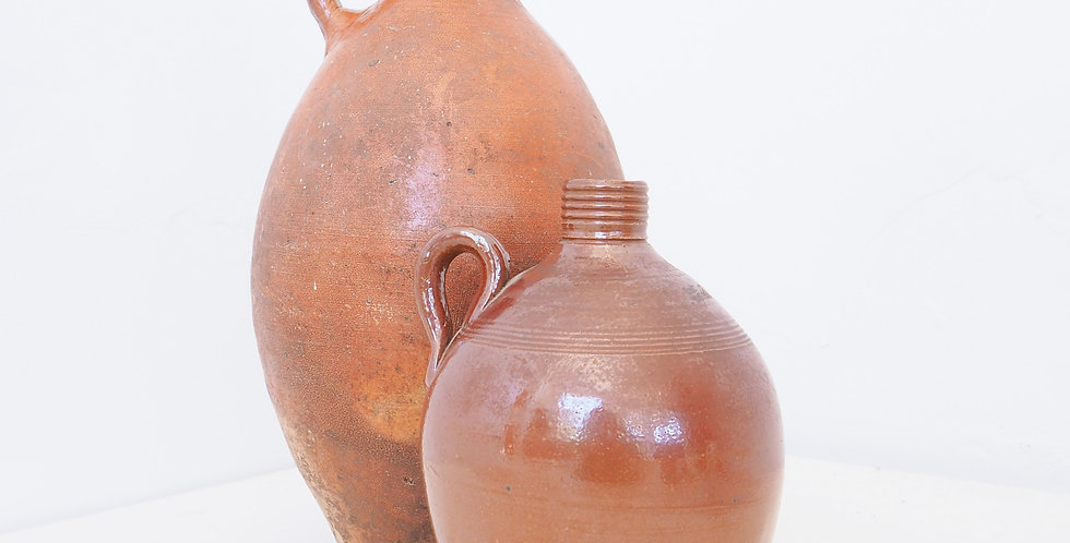 French Earthenware Flasks
