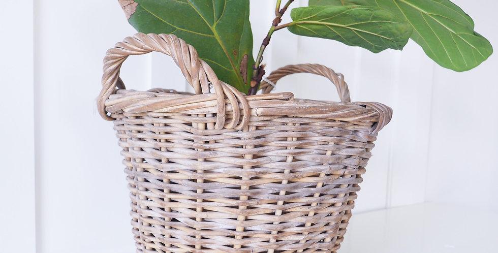Vintage Dutch Wicker Basket