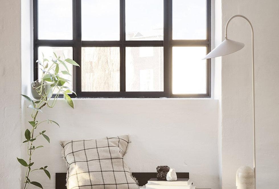 Grid Cushion - Camel & Black
