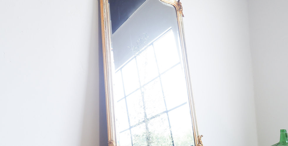 French Antique Gilted & Silvered Mirror