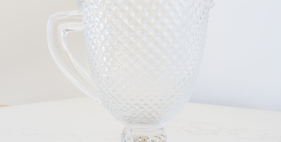 Vista Alegre Pressed Glass Pitcher