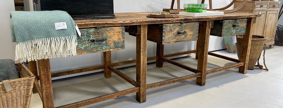 Huge Industrial Timber Workbench