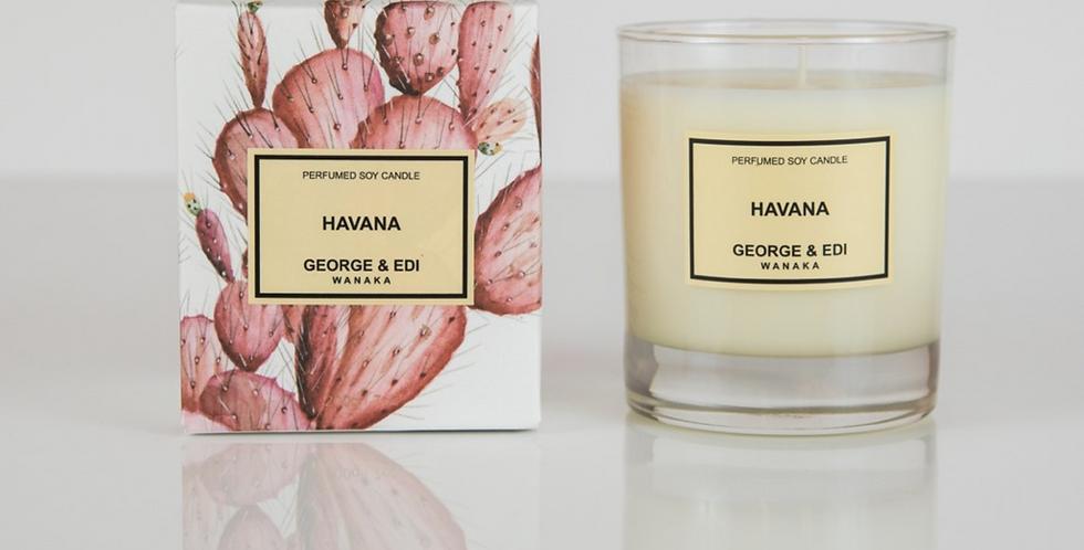 George & Edi Perfumed Soy Candle - Havana