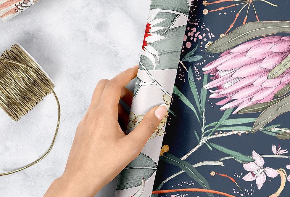 Bespoke Letterpress Giftwrap - Cockatoos