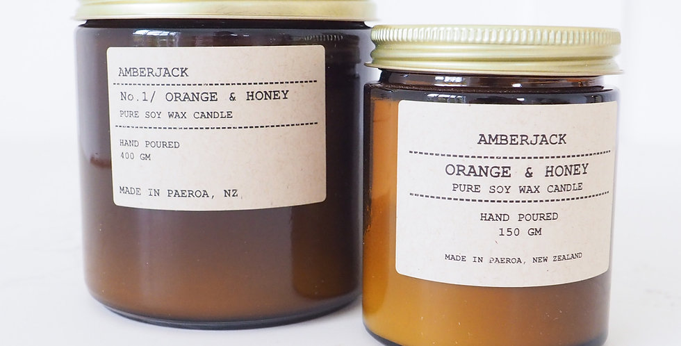 Amberjack Candle - Orange & Honey