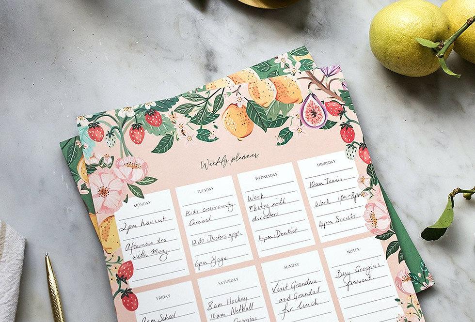 Bespoke Letterpress Meal Planner