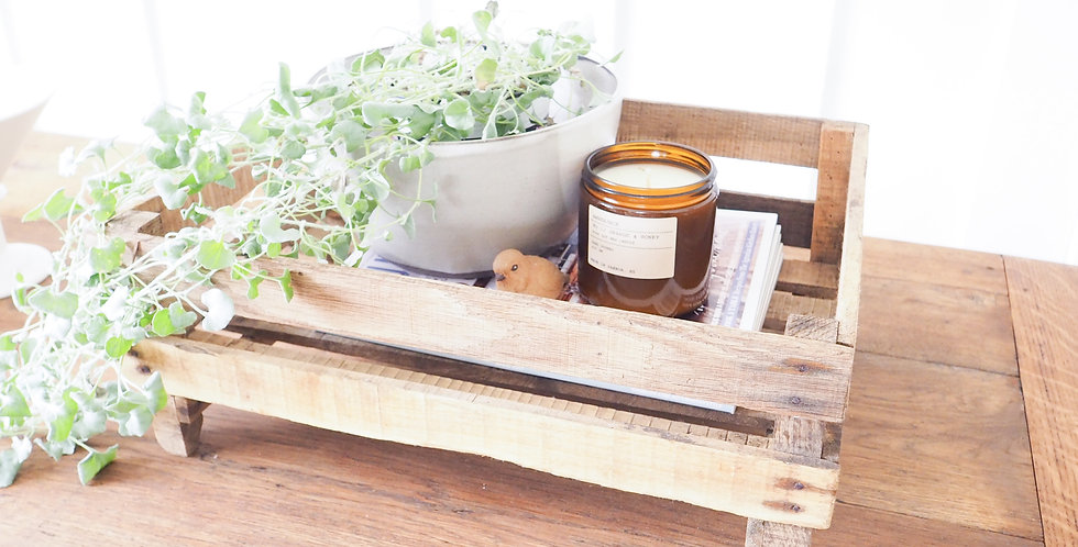 Vintage French Timber Crate