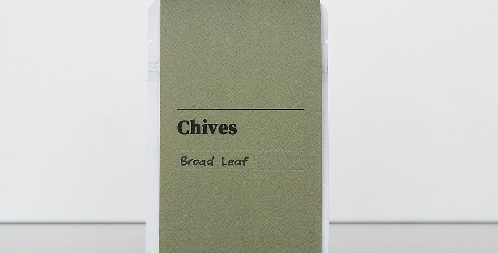 Gibson & Green Seeds - Chives (Broad Leaf)