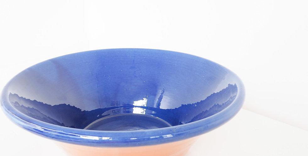 Spanish Glazed Terracotta Provencal Bowl - Cobalt