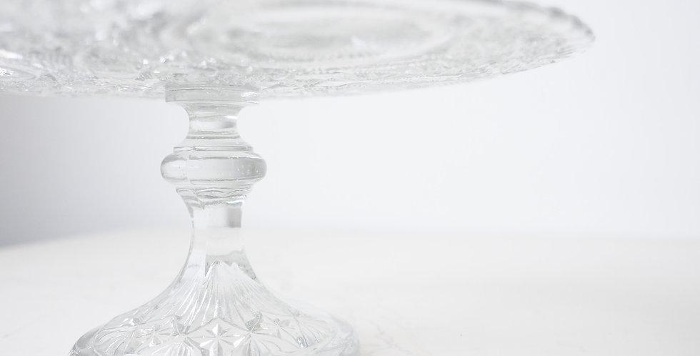 Vintage Pressed Glass Cake Stand