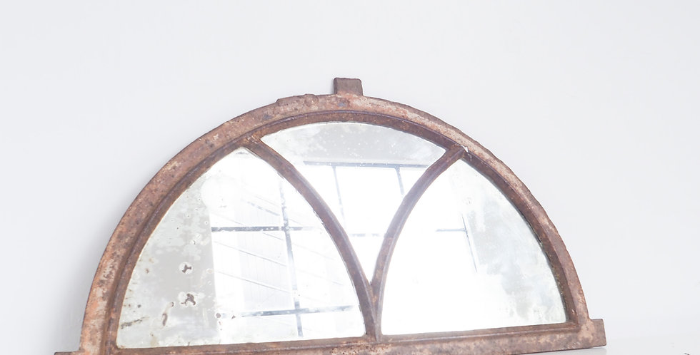 French Cast Iron Window Mirror
