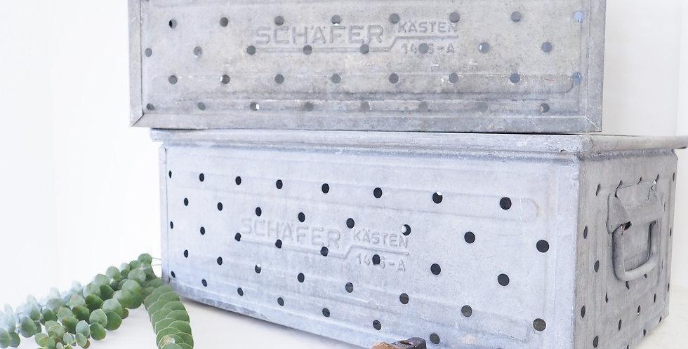Perforated Zinc Crates