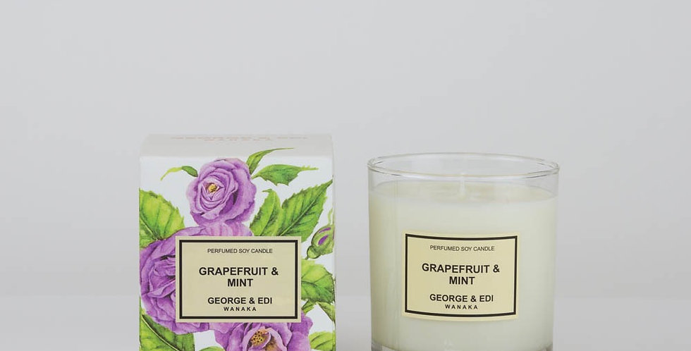 George & Edi Perfumed Soy Candle - Grapefruit & Mint