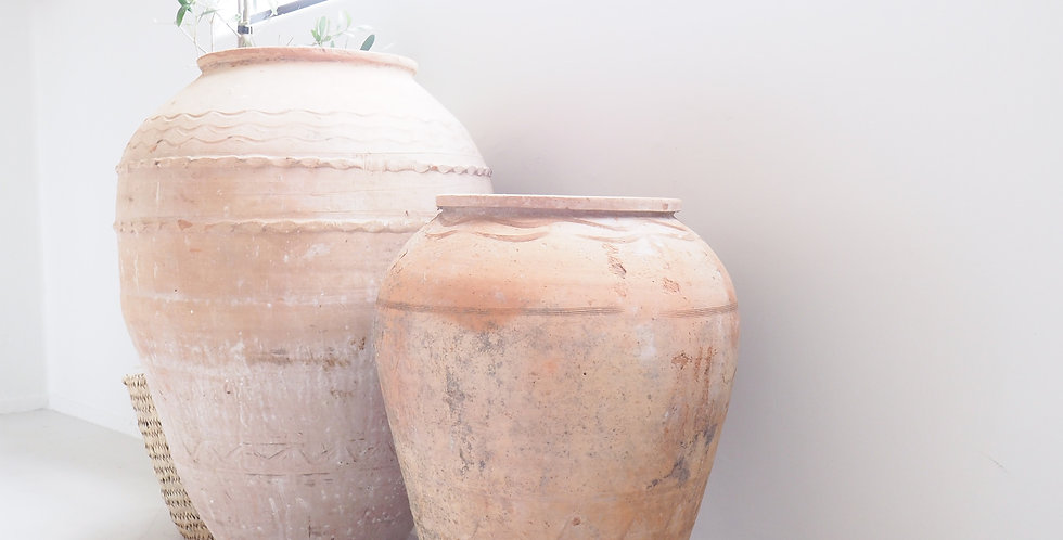 Vintage Greek Terracotta Urns