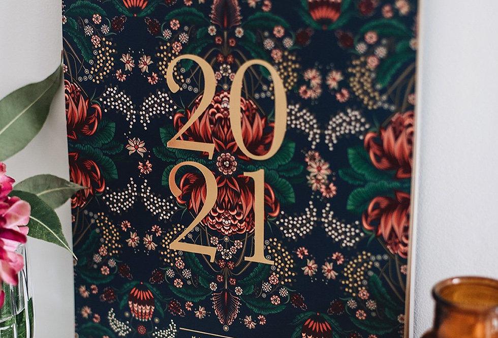 Bespoke Letterpress 2021 Wall Calendar