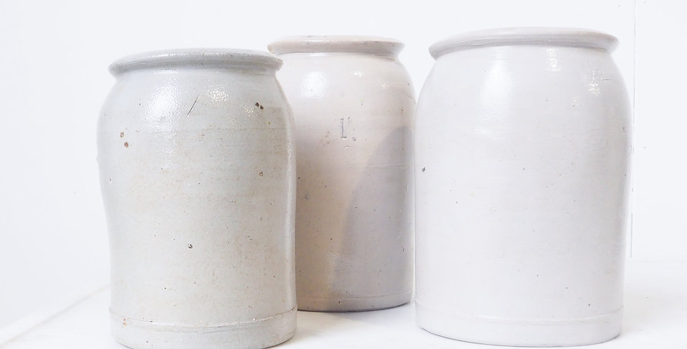 French Stoneware Jars