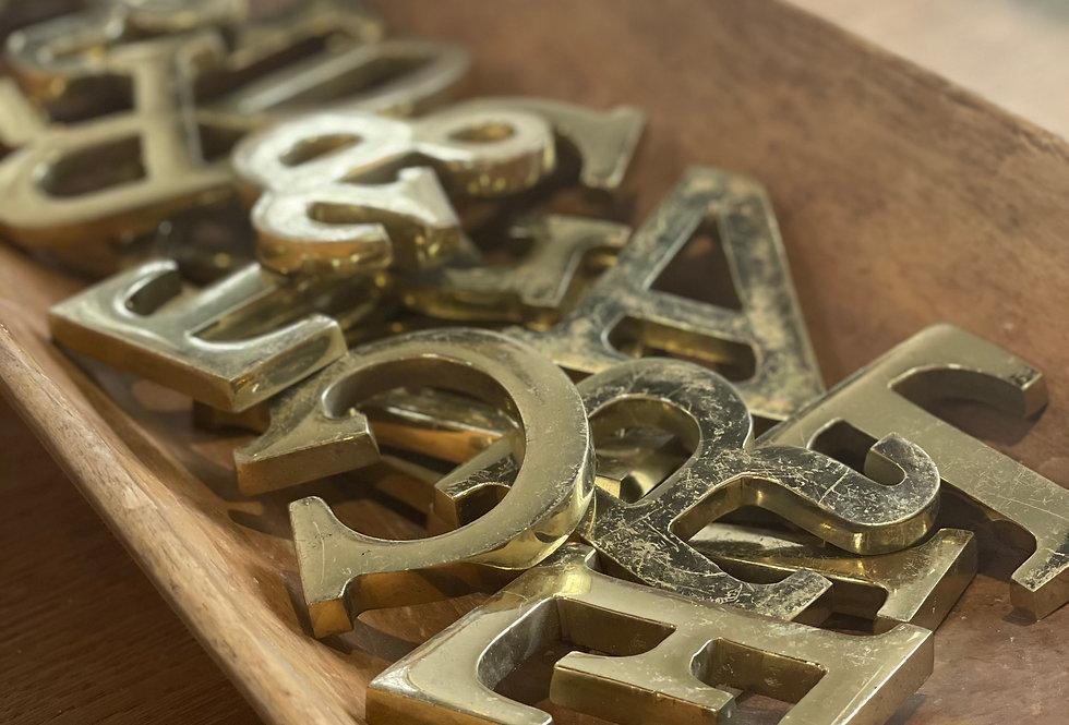 Vintage Brass Letters