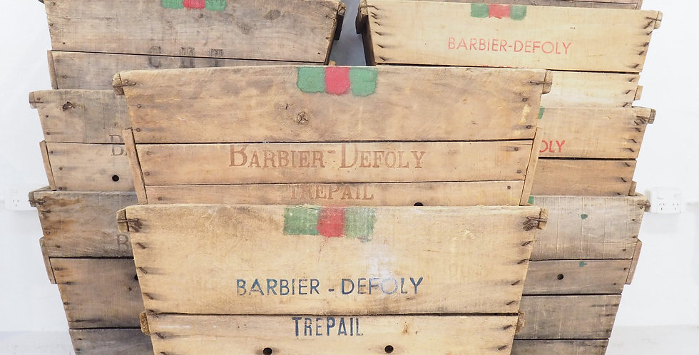 Vintage French Grape Crates