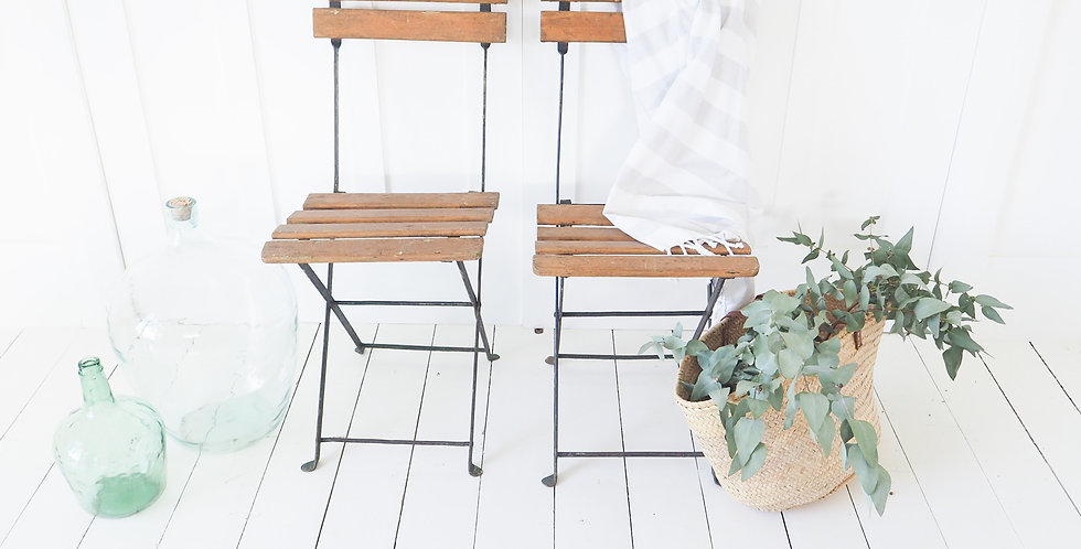 French Terrace Chairs - Pair
