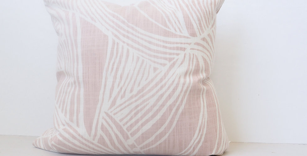 Sunday Society Blush Linen Cushion