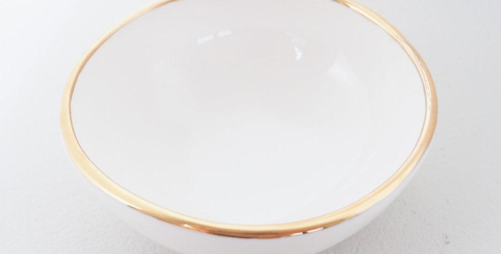Claybird Ceramics Ring Dish - White