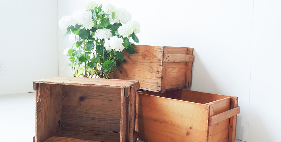 Vintage Dutch Industrial Wooden Crate