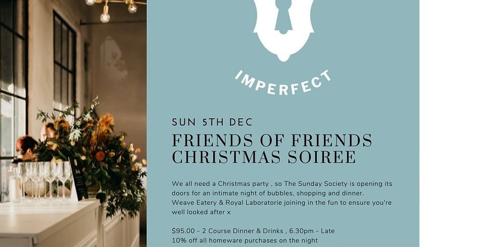 Sunday Society x Royal Laboratorie Christmas Dinner - Sunday 5 December