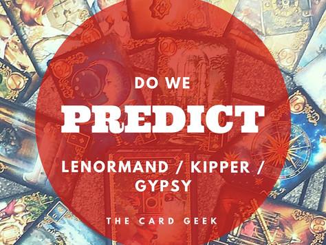 Do we predict?
