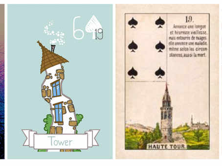 The Long Long Road ... The Lenormand Tower Card