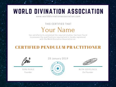 Certified Pendulum Practitioner Course!