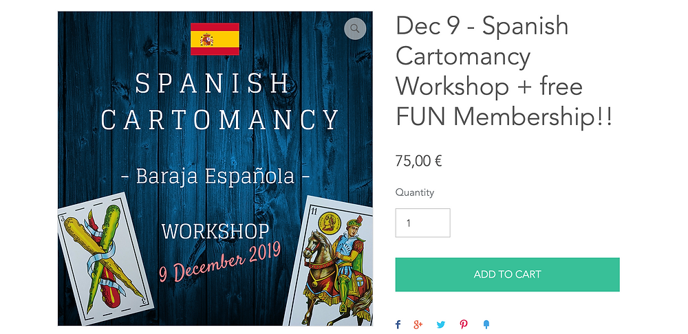 Spanish Cartomancy Live in December
