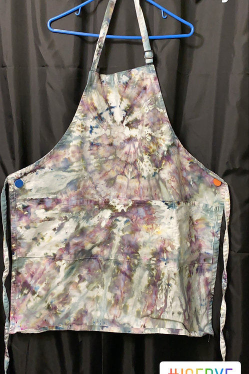 Ice Dye Apron - Grey