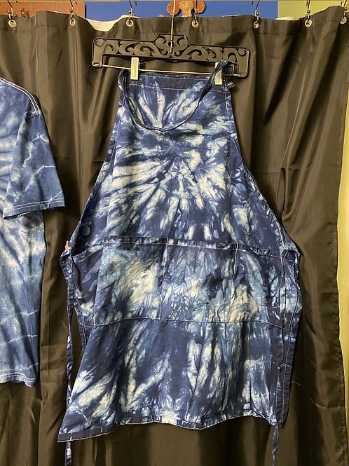 Indigo dyed apron
