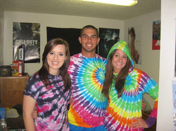 Tie dyed friends