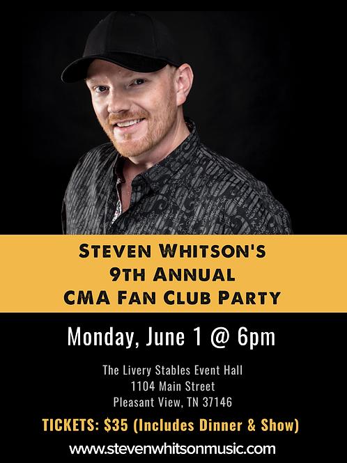 Steven Whitson's CMA Fan Club Party
