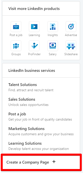 Create a Company Page on Linkedin