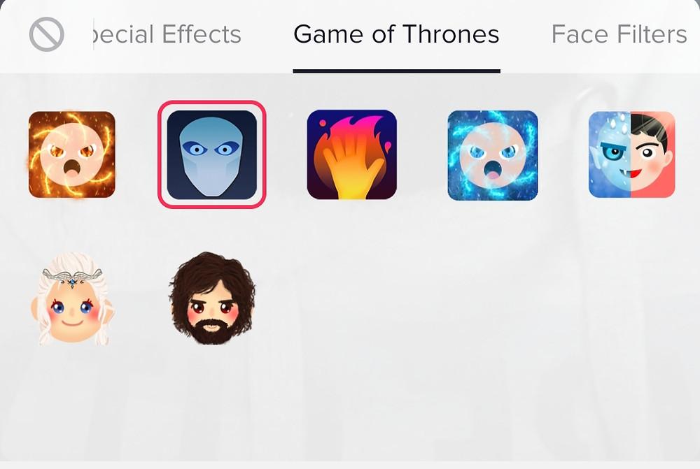 TikTok Branded Lens Game of Thrones